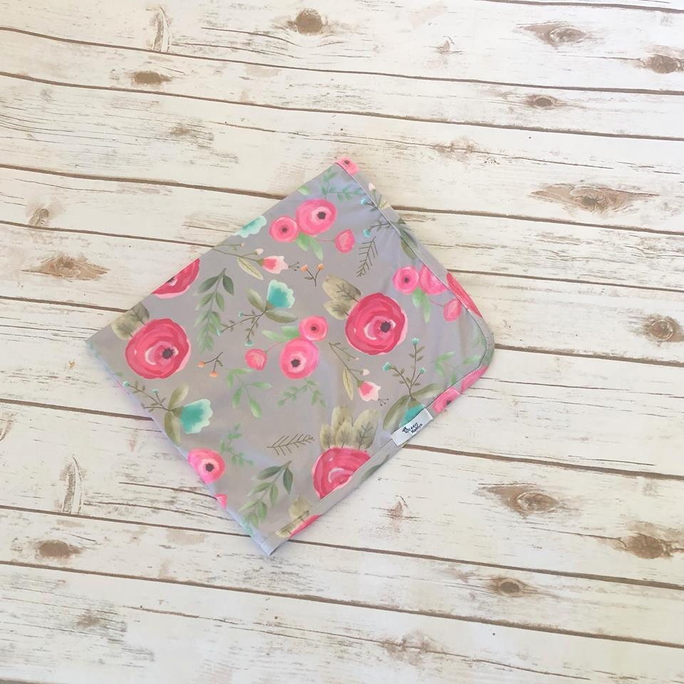 Not So Grey Floral Swaddle