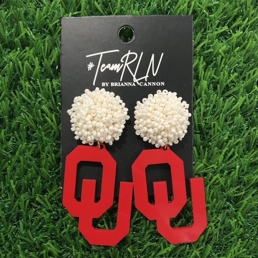 OU Game Day Earrings