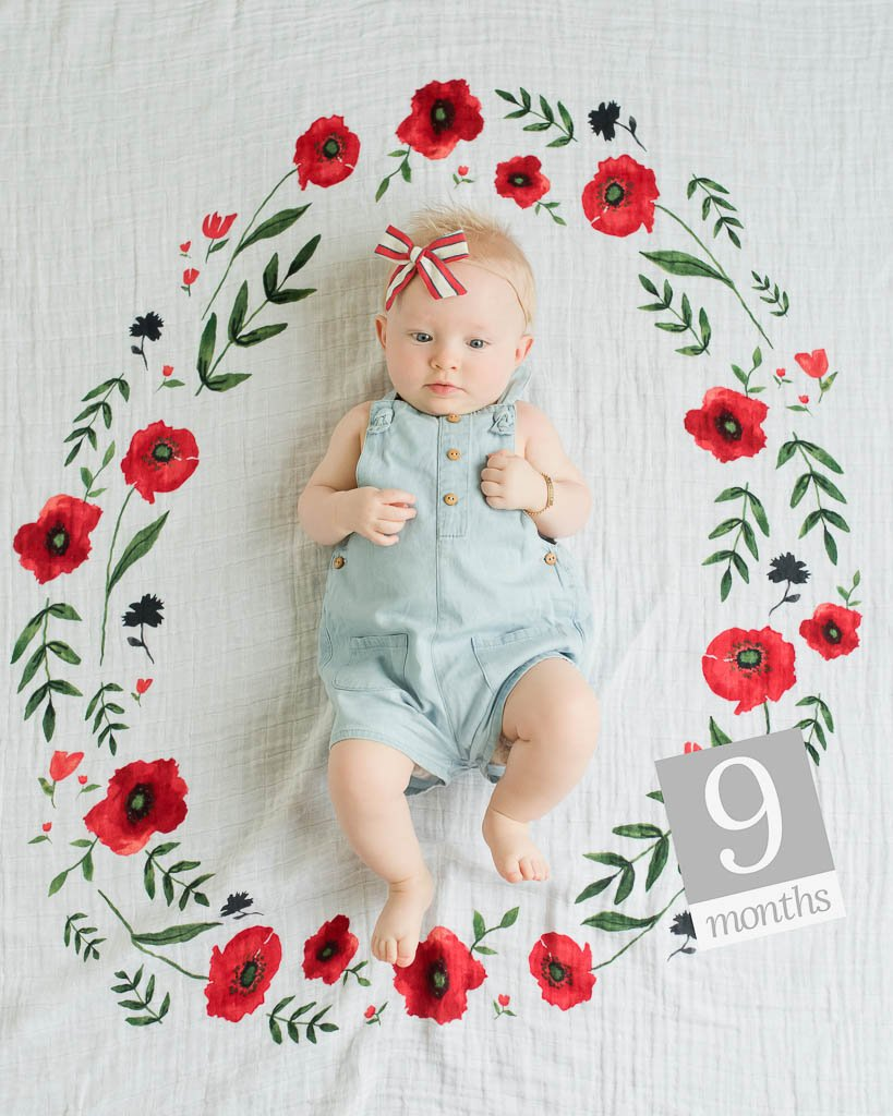 Little Unicorn Photo Blanket - Summer Poppy