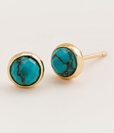 Gorjana Power Gemstone Studs  in Turquoise