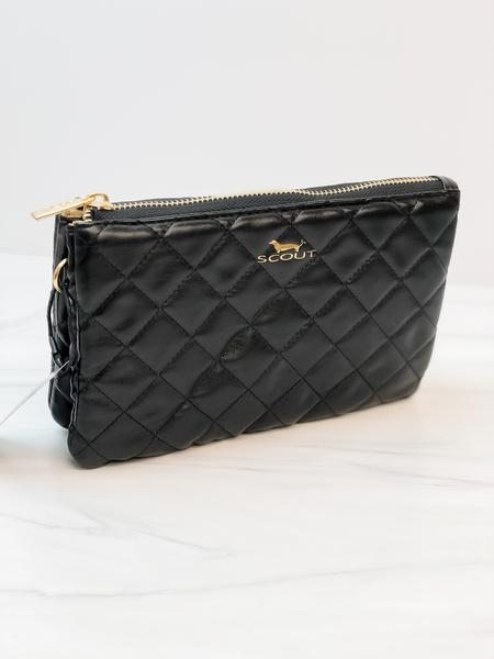 Scout Bags Carson Crossbody Bag in Quilted Black