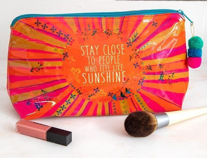 Natural Life Vinyl Makeup Bag, Sunshine