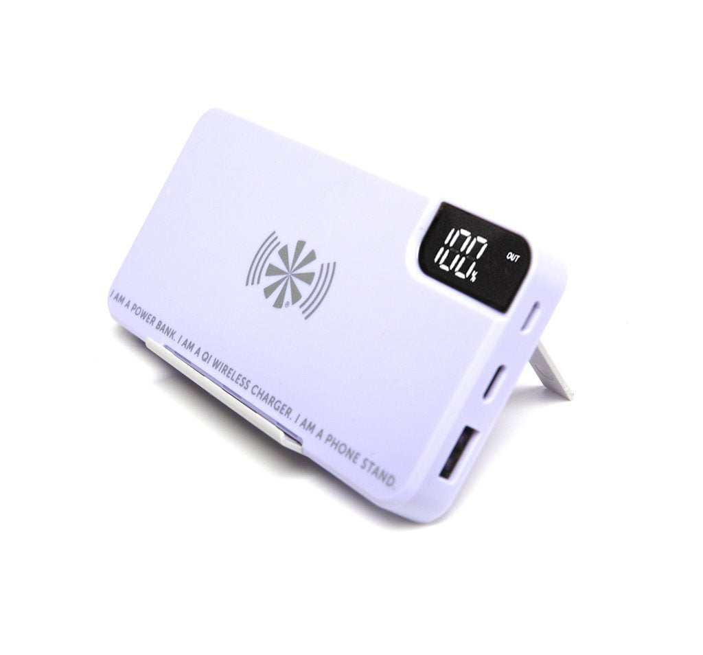 Take Charge Power Bank in Grey/White