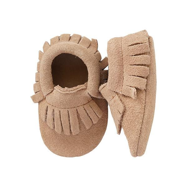 Suede Moccasins - Tan