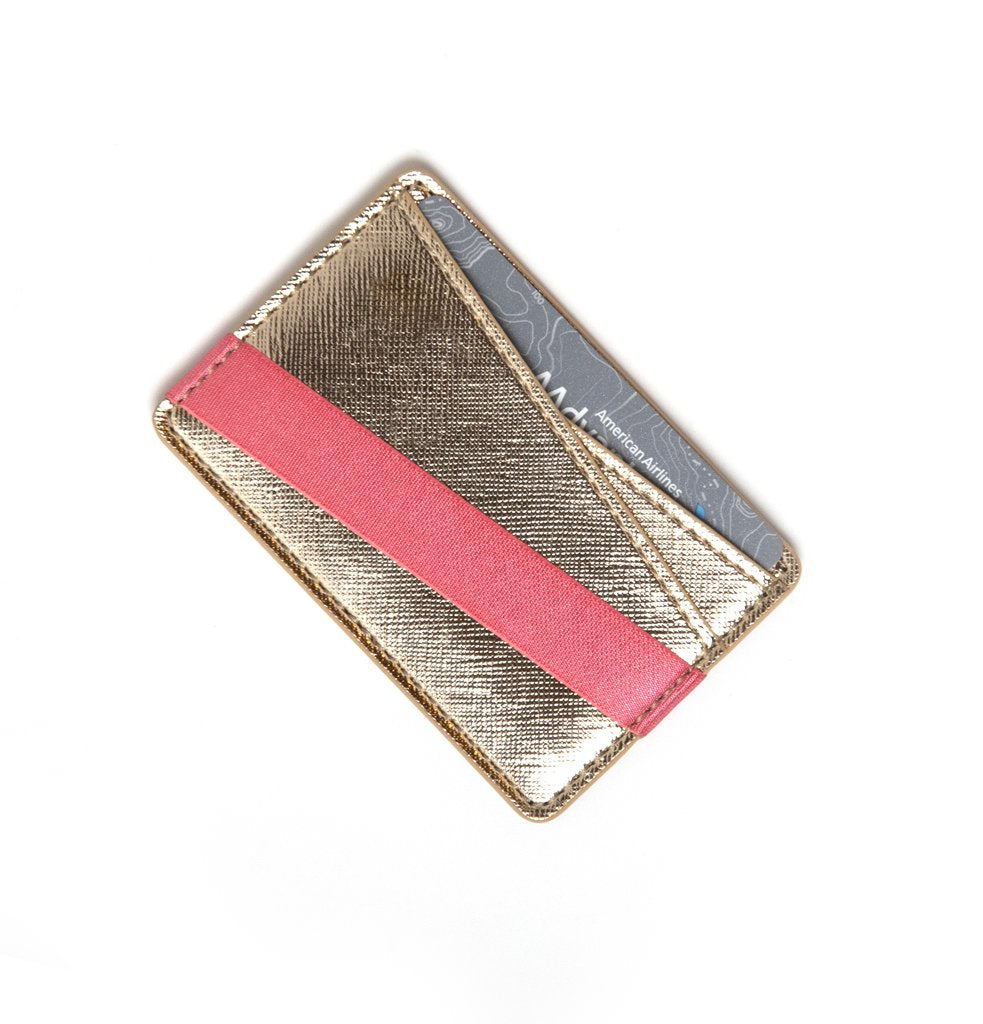 To Have and To  Hold Wallet in Gold/Pink