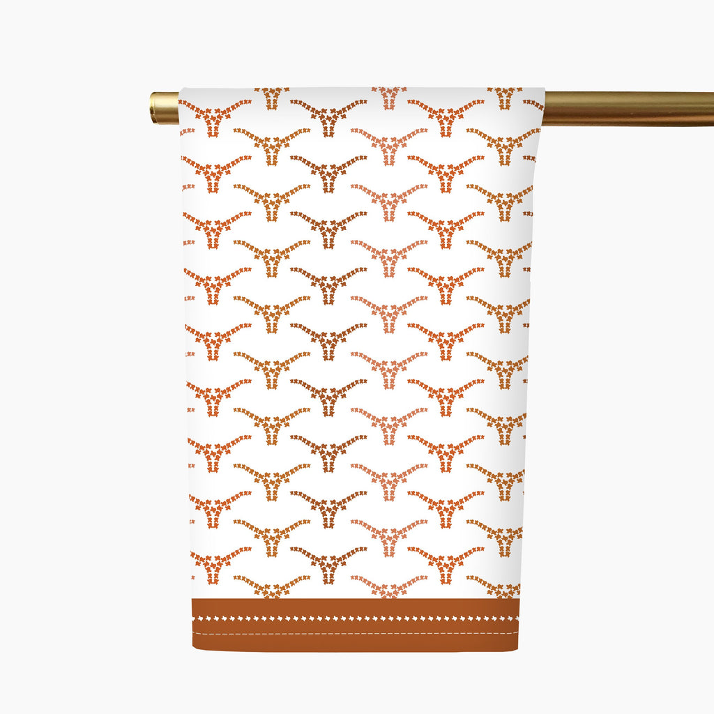 Texas Longhorn Tea Towel