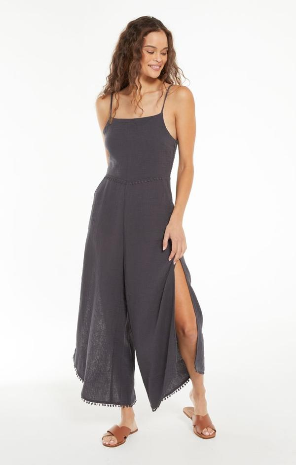 Z Supply Wayfarer Gauze Jumpsuit- Washed Black