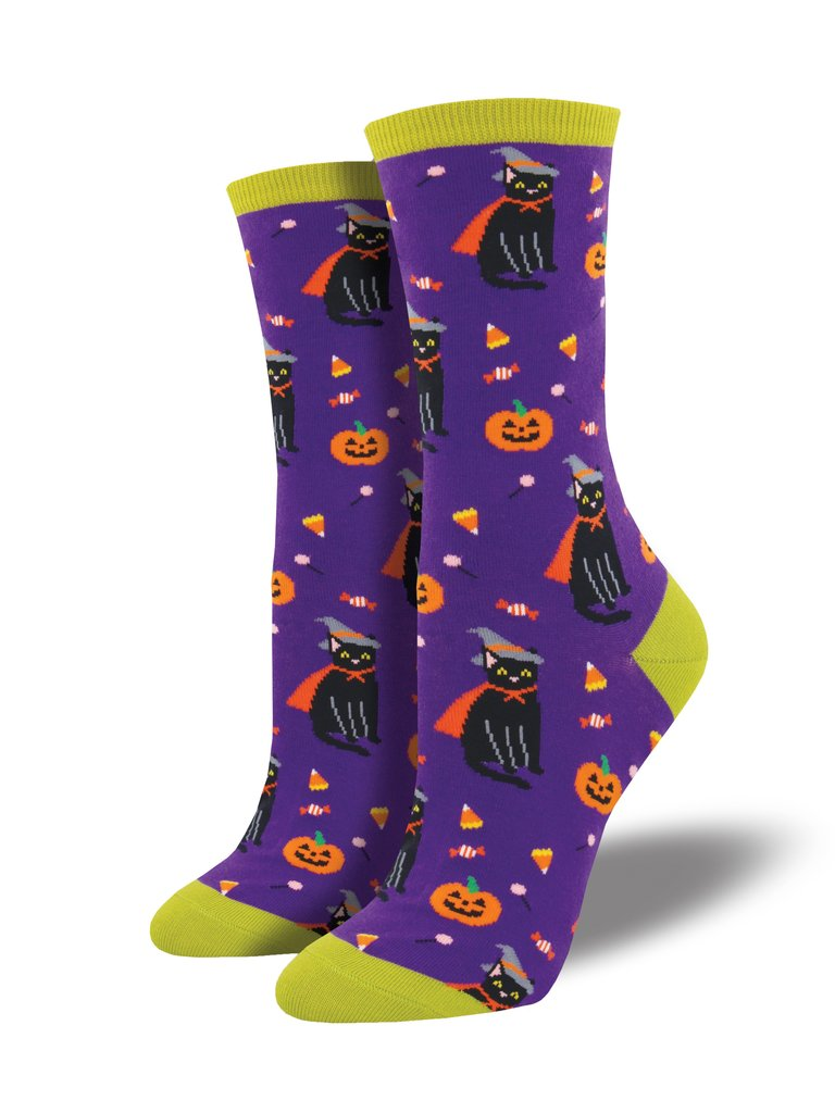 Witch Cat? Novelty Women's Socks