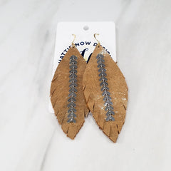 Wylder Chain Feather Earrings by Hattie Now - Available in 2 Colors