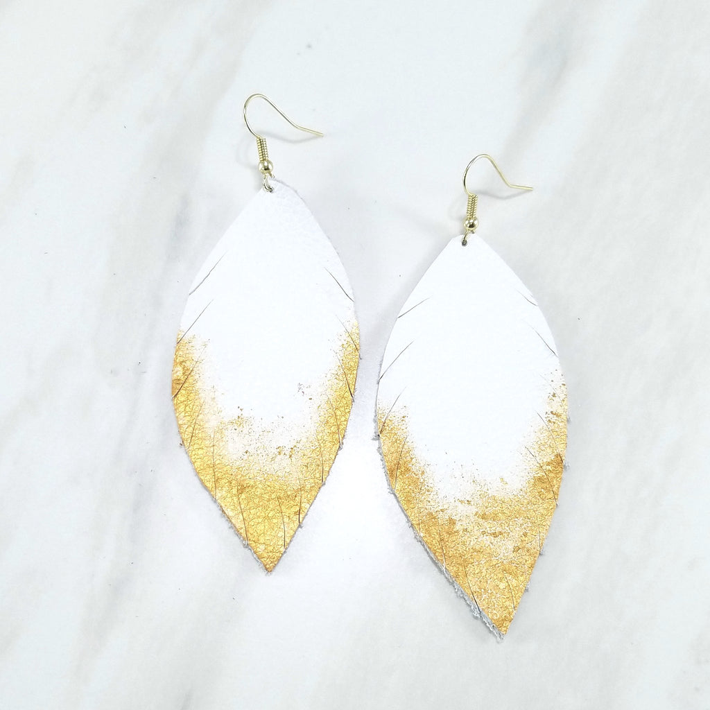 Wylder Dipped Feather Earrings by Hattie Now - Available in 2 Colors