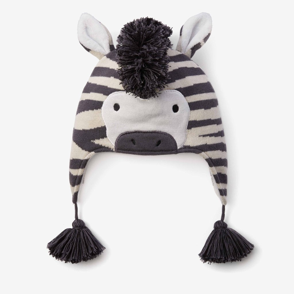 Zebra Baby Knit Hat