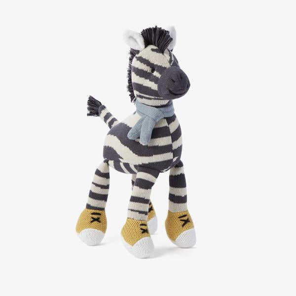 Zebra Baby Knit Toy