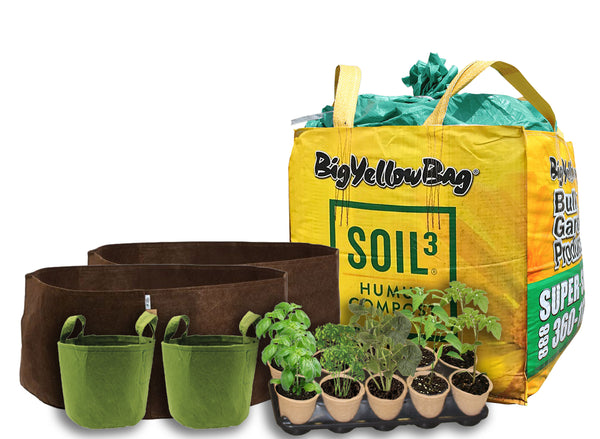 Complete Garden Kit: 1 BigYellowBag + Root Pouches + 10 PLANTS!