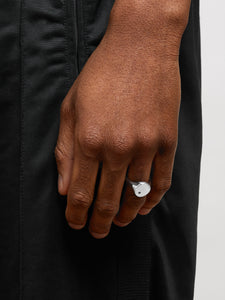 White Diamond Signet Ring