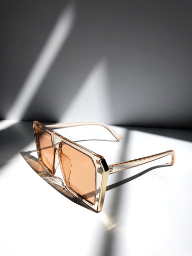 The 'Malibu' Sunglasses in Peach