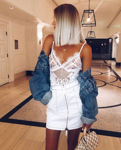 The Bella Lace Bodysuit White