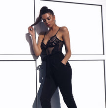 The Bella Lace Bodysuit Black
