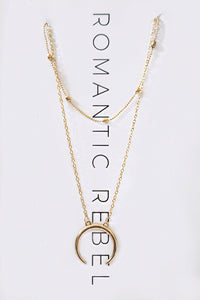 Multilayer Horn Necklace