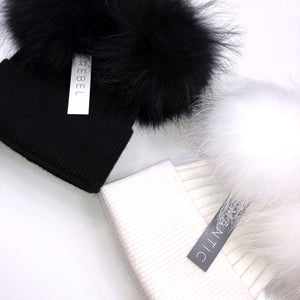 The 'Aster' Double Bobble Beanie