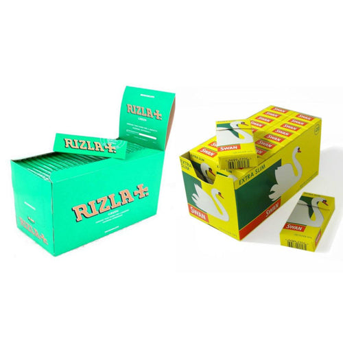 Rizla Green Rolling Papers and Swan Extra Slim Filters 600 by Rizla