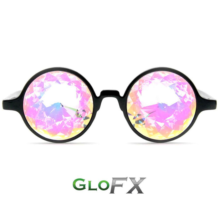 Rainbow Kaleidoscope Glasses with Black Frame