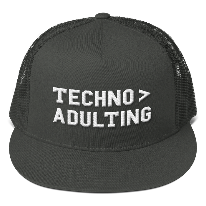 Techno > Adulting Mesh Back Snapback