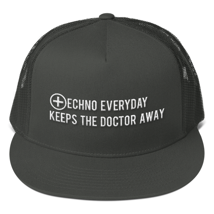 Techno Every Day Keeps the Doctor Away Mesh Back Snapback