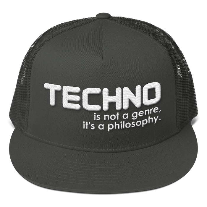 Techno is Not a Genre Mesh Back Snapback