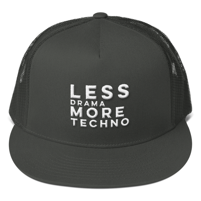 Less Drama More Techno Mesh Back Snapback