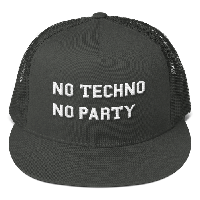 No Techno No Party Mesh Back Snapback