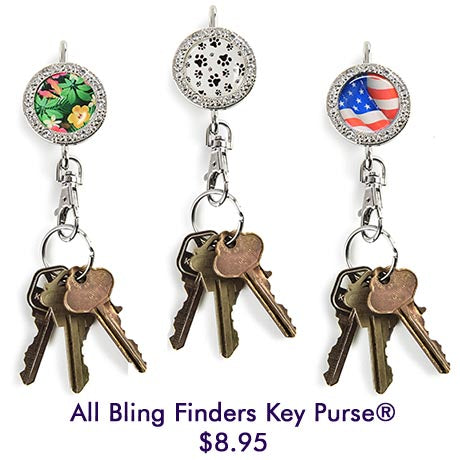 All Bling Finders Key Purse