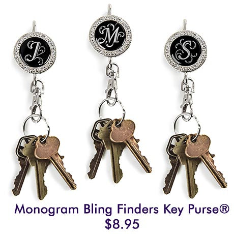 Monogram Bling Finders Key Purse