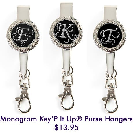 Monogram Bling Key'P It Up® Purse Hangers