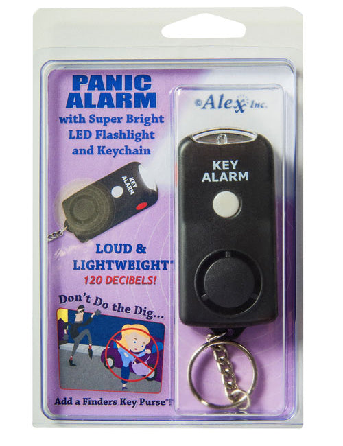 panic alarm, mini flashlight, flashlight keychain, panic alarm keychain, personal panic alarm