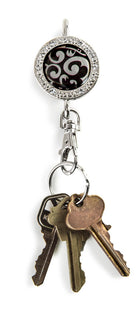 bling keychain, bing accessories, black keychain, black accessories, key finder, finders key purse