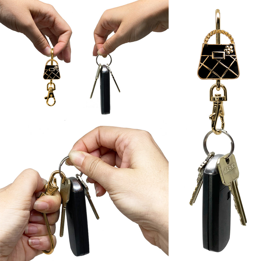 Gold & Black Purse Finders Key Purse®