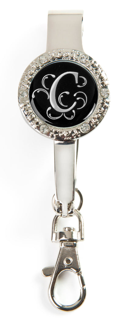 "Monogram BLING Key'P It Up® Purse Hanger ""C"""