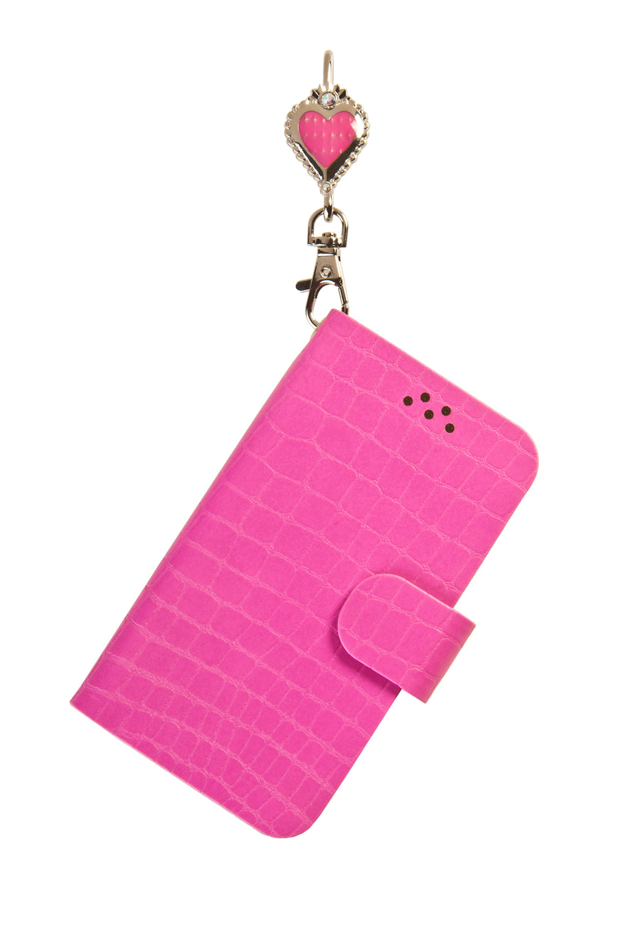 Pink Phone Key'Purse Diary Case with Queen of Hearts
