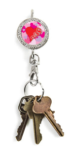 heart key finder, heart key chain, heart keychain , heart accessories, bling keychain , bling accessories