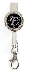 "Monogram BLING Key'P It Up® Purse Hanger ""F"""