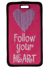 luggage tag, heart luggage tag, luggage i.d.