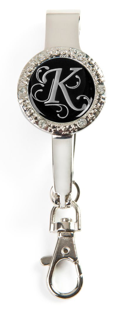 "Monogram BLING Key'P It Up® Purse Hanger ""K"""