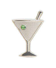 martini keychain, martini accessories, gift for someone who loves martinis,