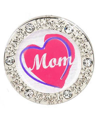 Mom's Shining Heart BLING Finders Key Purse®