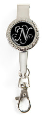"Monogram BLING Key'P It Up® Purse Hanger ""N"""