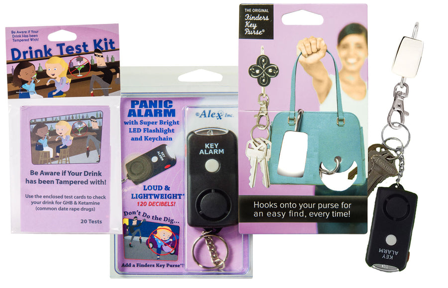Finders Keep HerSafer™ Safety Kit with Panic Alarm