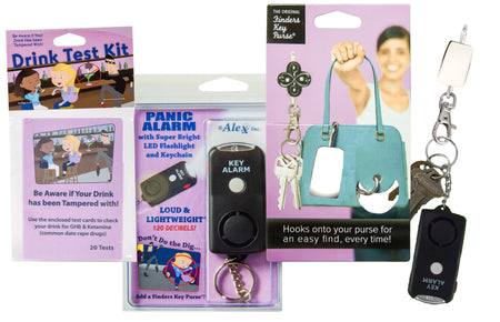 Finders Keep HerSafer™ Night Out Kit with Panic Alarm