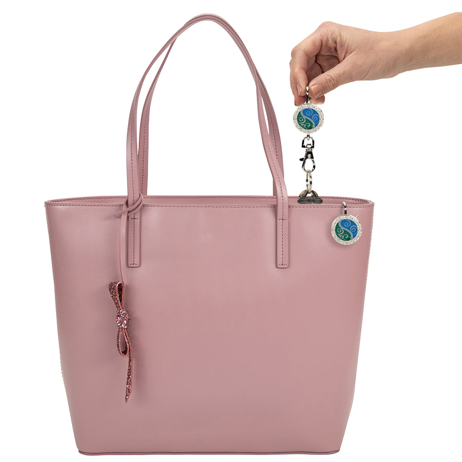 Aqua Swirl Bling Finders Key Purse®