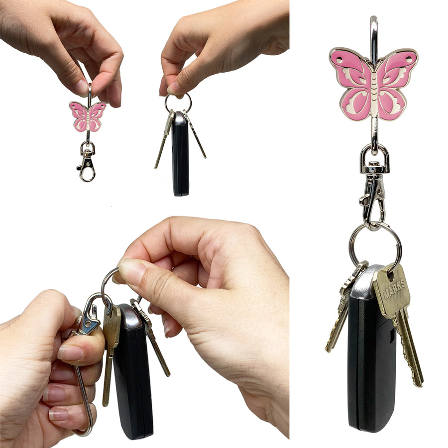 Pink Butterfly Finders Key Purse®