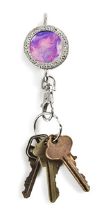 Pink & Purple Swirl BLING Finders Key Purse®